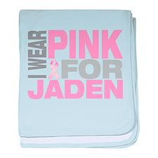 I wear pink for Jaden baby blanket