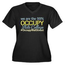 Occupy State College Women's Plus Size V-Neck Dark