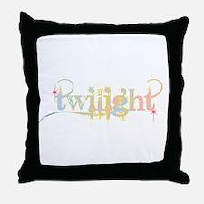 Twilight Pastel Tie-Dye Throw Pillow