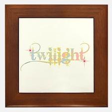 Twilight Pastel Tie-Dye Framed Tile