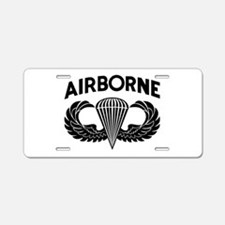 Jump Wings Stencil (2) Aluminum License Plate