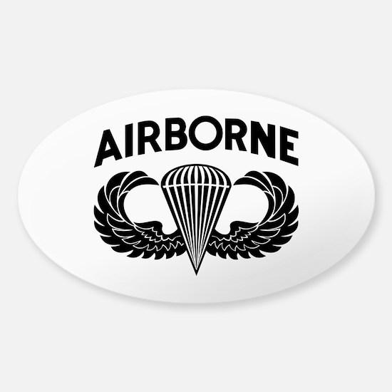 Jump Wings Stencil (2) Sticker (Oval)
