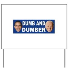 Anti obama bumper stickers Yard Sign