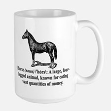 Definition of a Horse Large Mug