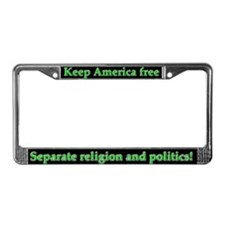 """Keep America Free"" License Plate Frame"