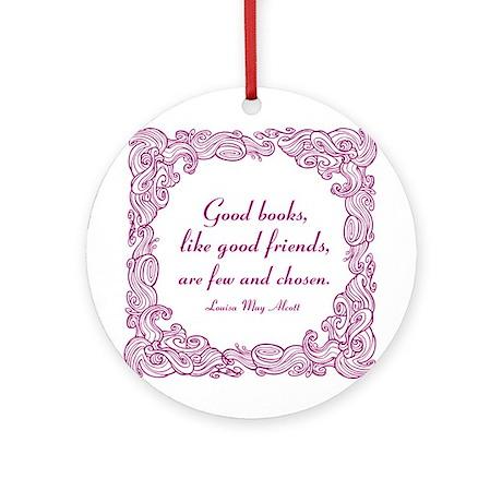 Good Books (berry) Ornament (Round)