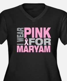 I wear pink for Maryam Women's Plus Size V-Neck Da