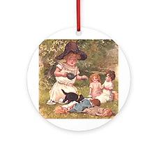 Tea Party Ornament (Round)