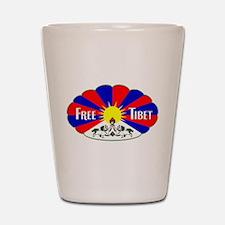 Free Tibet - Human Rights Shot Glass