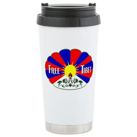 Free Tibet - Human Rights Stainless Steel Travel M