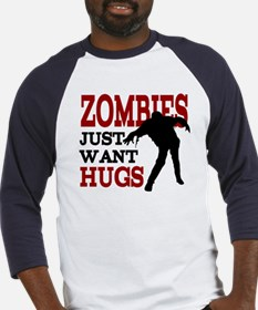 Zombies Just Want Hugs Baseball Jersey