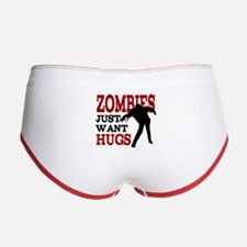 Zombies Just Want Hugs Women's Boy Brief