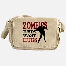 Zombies Just Want Hugs Messenger Bag