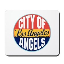 Los Angeles Vintage Label Mousepad