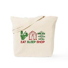 Eat Sleep Christmas Shop Tote Bag