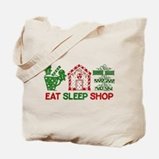 Eat Sleep Christmas Shop Tote Bag