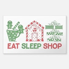 Eat Sleep Christmas Shop Decal
