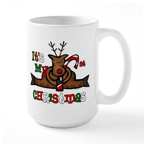 Reindeer Baby's 1st Christmas Large Mug