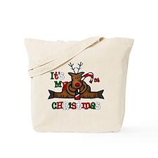 Reindeer Baby's 1st Christmas Tote Bag