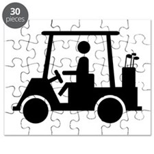 Caution Golf Buggy Sign Puzzle