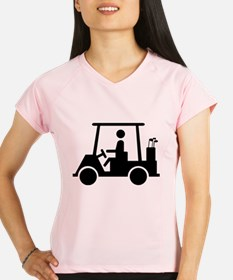 Caution Golf Buggy Sign Performance Dry T-Shirt