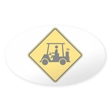 Caution Golf Buggy Sign Decal