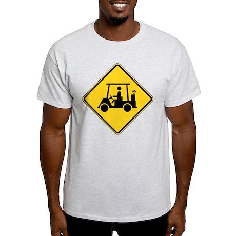 Caution Golf Buggy Sign Light T-Shirt