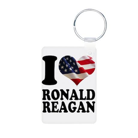 I heart American Flag Ronald Aluminum Photo Keycha