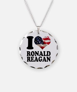 I heart American Flag Ronald Necklace