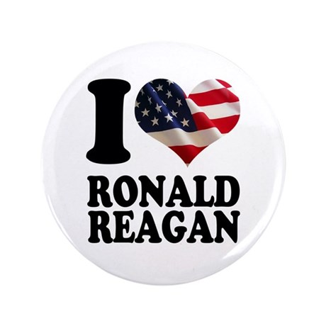 "I heart American Flag Ronald 3.5"" Button (100 pack"