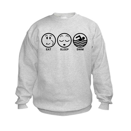 Eat Sleep Swim Kids Sweatshirt