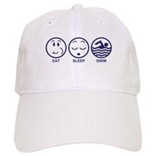 Eat Sleep Swim Baseball Cap