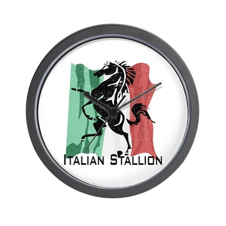Italian Stallion Wall Clock