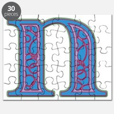 N Blue Glass Puzzle