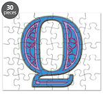 Q Blue Glass Puzzle