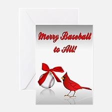 Baseball Christmas Greeting Card