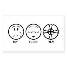 Eat Sleep Film Bumper Stickers