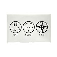 Eat Sleep Film Rectangle Magnet