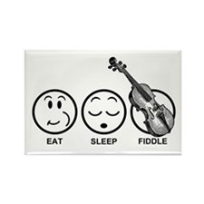 Eat Sleep Fiddle Rectangle Magnet