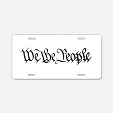 WE THE PEOPLE XVII Aluminum License Plate