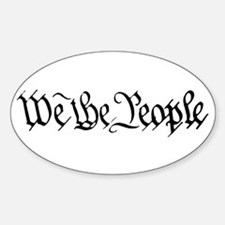 WE THE PEOPLE XVII Sticker (Oval)