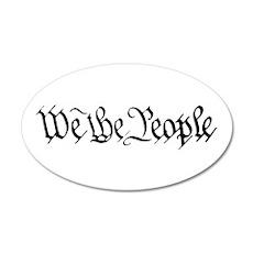 WE THE PEOPLE XVII 22x14 Oval Wall Peel