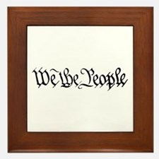 WE THE PEOPLE XVII Framed Tile