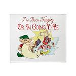 Naughty Elf & Santa Throw Blanket