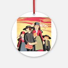 Amish Children Ornament (Round)