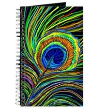 round peacock feather Journal