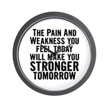 Stronger Tomorrow Wall Clock