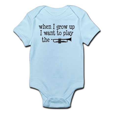 Future Trumpet Player Kids Infant Bodysuit