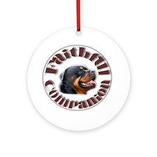 Faithful Rotty Ornament (Round)