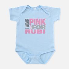 I wear pink for Rubi Infant Bodysuit
